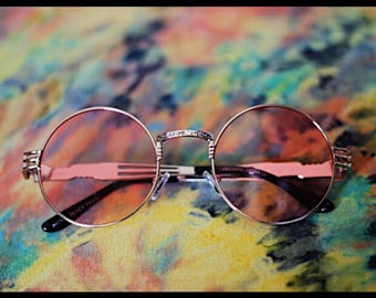 Round Sunglasses Pink and Gold