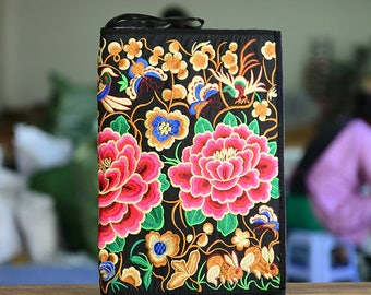 Floral Embroidery Clutch, ipad/notebook bag