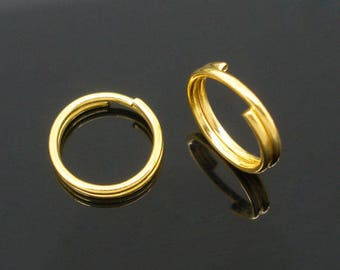50 jumprings double Gold 8 mm