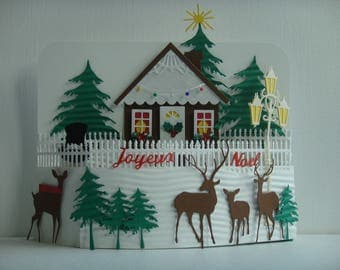 Kit card 3D Home Decorating for Christmas to make you even