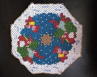 Christmas beaded placemat