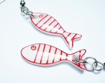 Earrings small fish