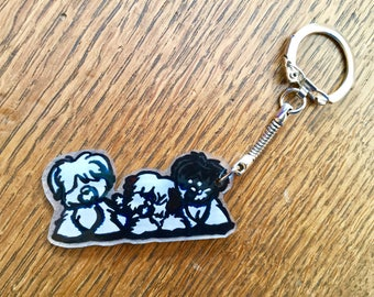 Keychain or bag charm adorable puppies nizinny