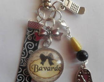 "Keychain bag charm / ""Gossip"" / gift / party/birthday"
