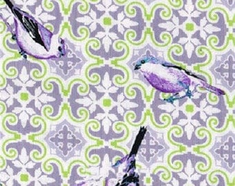 FABRIC, Coupon, 45 cm x 55 cm, birds, English style, Summer Loft
