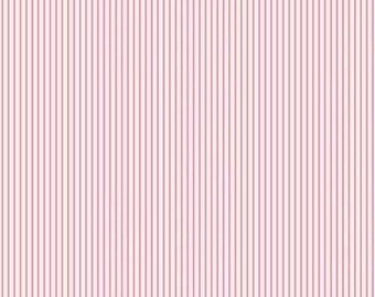 Fabric coupon 50/35 cm, TILDA, pinstripes, MINI STRIPE, PINK, 480439C, patchwork