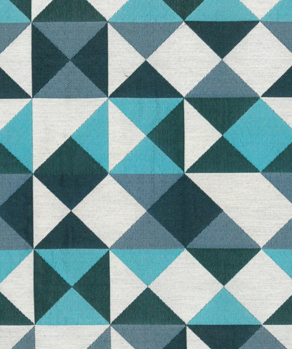 tissu motif g om trique bleu. Black Bedroom Furniture Sets. Home Design Ideas