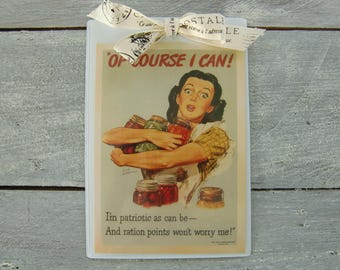 card: retro postcard