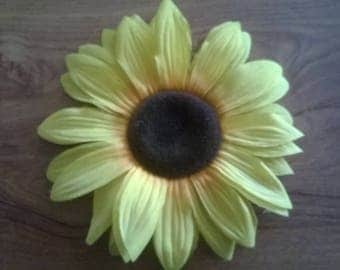 218) large artificial flower: sunflower
