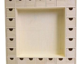 39 x 39 cm - Artemio - wooden advent calendar