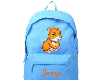 Blue backpack Conchon from India personalized with name
