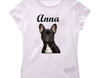 French Bouldog girl shirt tee personalized with name
