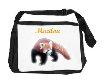 Personalized with name Red Panda shoulder bag