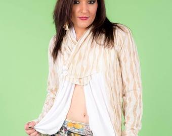 cotton mesh sequined vest