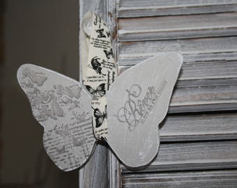 Plaster scented and decorated Butterfly
