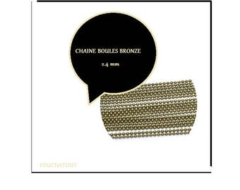 BALL chain 2.4 mm. BRONZE.