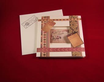 For the year-end holidays card and matching envelope