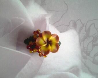 Small barrette tiare flower