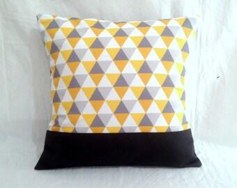 Cover cushion 40 x 40, grey, mustard
