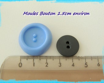 Button mold for polymer clay 1.5 cm