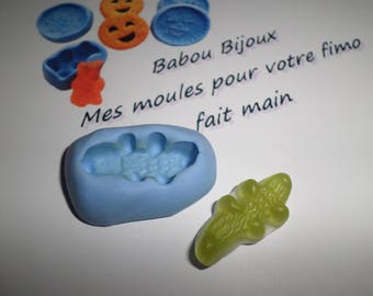 Mini Croc in mold for polymer clay 3cm / 1 cm