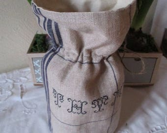 Condiment ladle * thyme * sewing cross stitch Embroidery handmade france