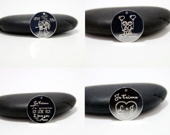 Valentine's day EDITION - 4 custom engraved pendants