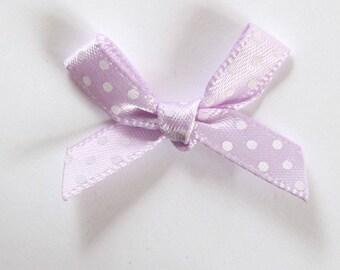 10 x 7mm Satin ribbon bow: lilac - 001066