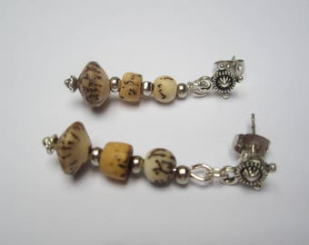 Royal Palm chip earrings