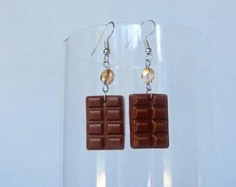 milk chocolate earrings