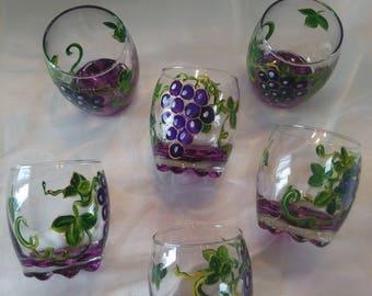 SERVICE 6 MODEL APERITIF GLASSES GRAPES