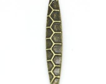 10 drops in antique bronze dimensions: 28 mm x 5mm