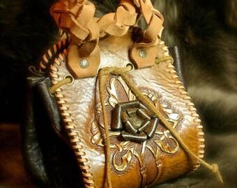 Look gypset vintage leather purse handbag