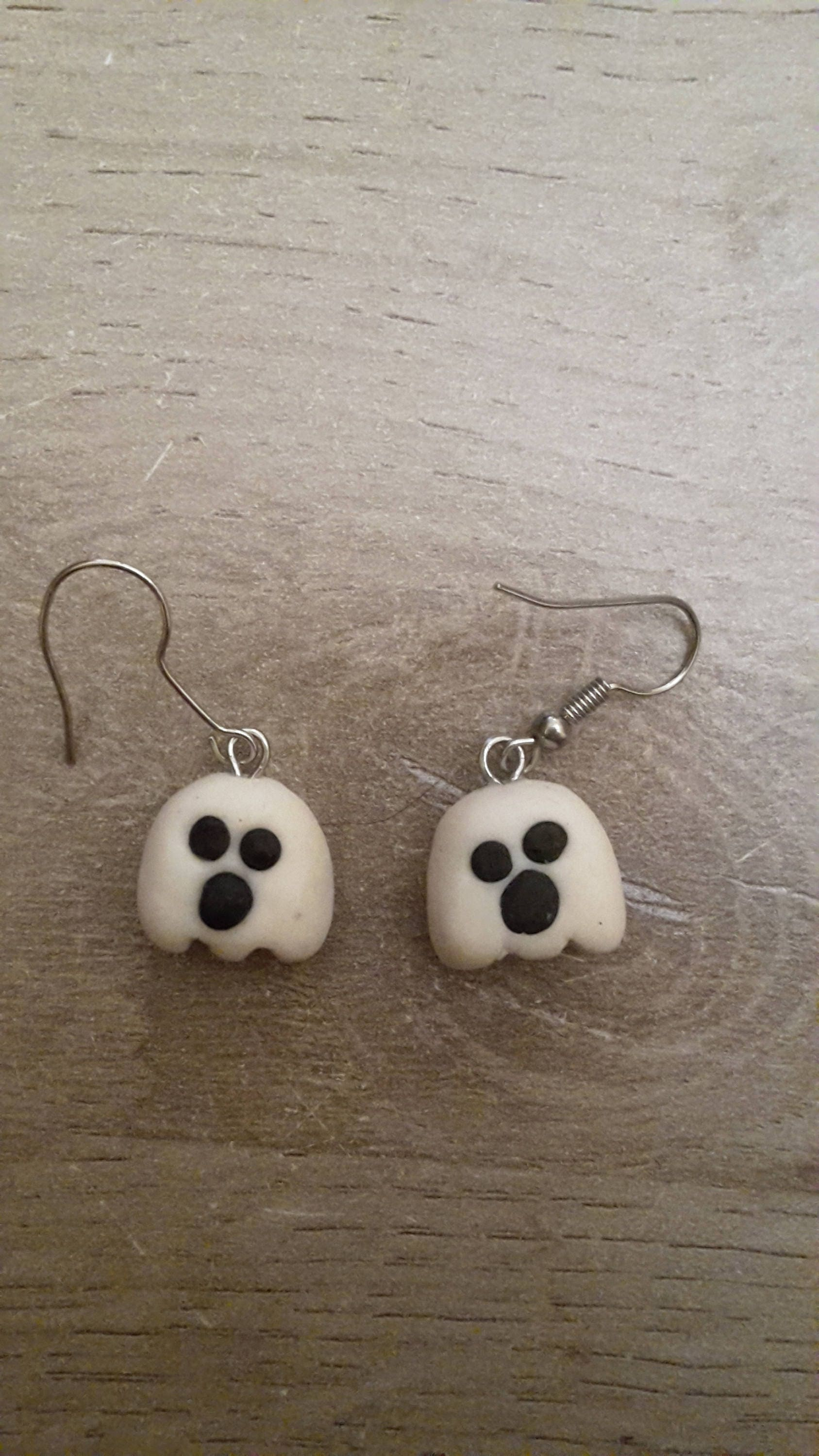 lampworked mama dangle s products halloween ghost original glass earrings otter