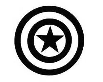 Captain america sheild decal