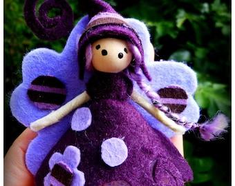 Magical/romantic purple brooch: customizable