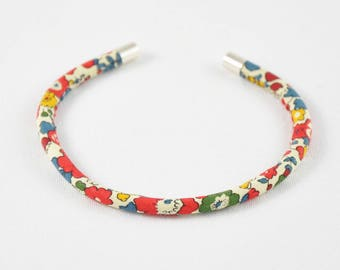 Madder red Liberty Betsy Ann Bangle Bracelet