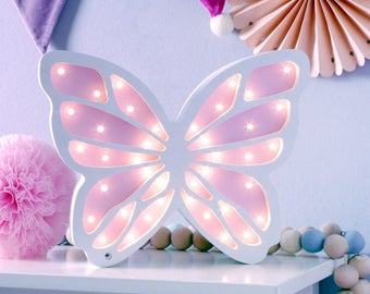 Butterfly Wooden Lamp,Kids Lightbox,Night Light, Decorative Lamp, Boys Room Decor, Kids Lamp, Kids Decor,Wooden Lightbox,bedside lamp