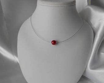 """""""LANA"""" classic wedding necklace red Pearl"""