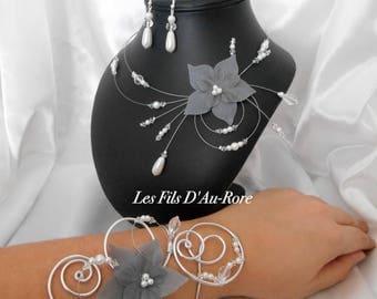 Wedding MYLLIE 3 piece necklace, bracelet & Earrings set