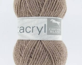 yarn not expensive UTTACRYL color taupe No. 304 white horse