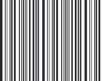 Tissu coton épais Black Stripes - Katia Fabrics