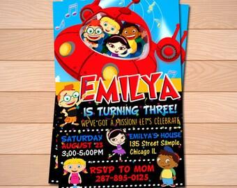 Little Einsteins party supplies, little einsteins birthday, little einsteins invite, little einsteins invitation, little einsteins printable