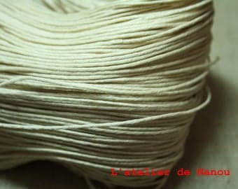 set of 10 m linen 1 mm waxed cotton cord