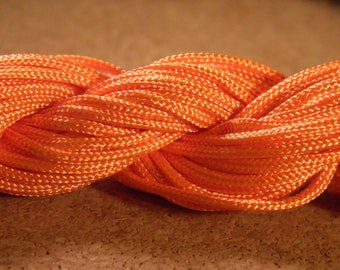 Orange beads jewelry Shamballa AC 24 M Fil nylon 1 mm macrame cord