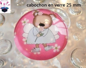 1 cabochon clear 25 mm theme cute little mouse