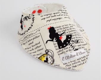 Bandana bib newspaper Alice in Wonderland country