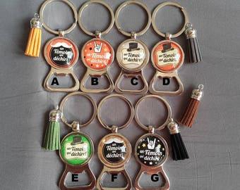 "key ring bottle opener wedding ""someone who rocks"" by Lolaclarabijoux"