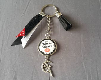 "Keyring ""witness that tears"" by lolaclarabijoux"