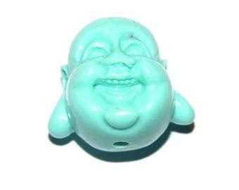 1 large Pearl resin Buddha 20X13mm